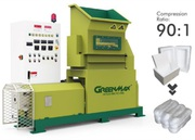 Foam waste recycling with GREENMAX MARS C200 densifier