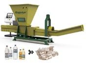 Plastic waste recycling with GREENMAX Poseidon series machine