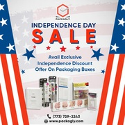 Avail Exclusive Independence Discount Of 40% On Packaging Boxes